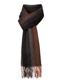 Paul Smith London Woven stripe scarf