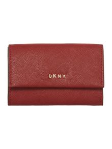 DKNY Saffiano flapover card holder