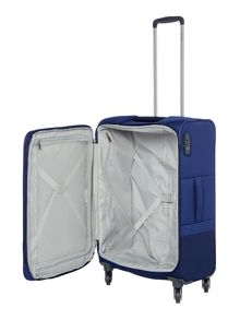 Samsonite Base boost blue 4 wheel 66cm medium suitcase