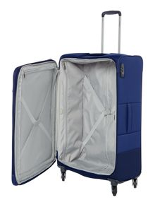 Samsonite Base boost blue 4 wheel 78cm large suitcase