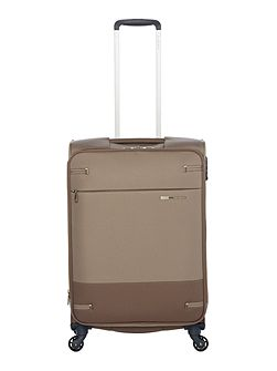 Base boost walnut 4 wheel 66cm medium suitcase