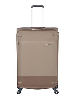 Base boost walnut 4 wheel 78cm large suitcase