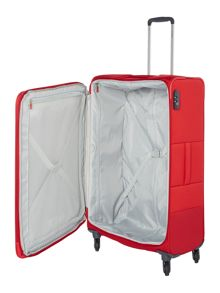 Samsonite Base boost red 4 wheel 78cm large suitcase