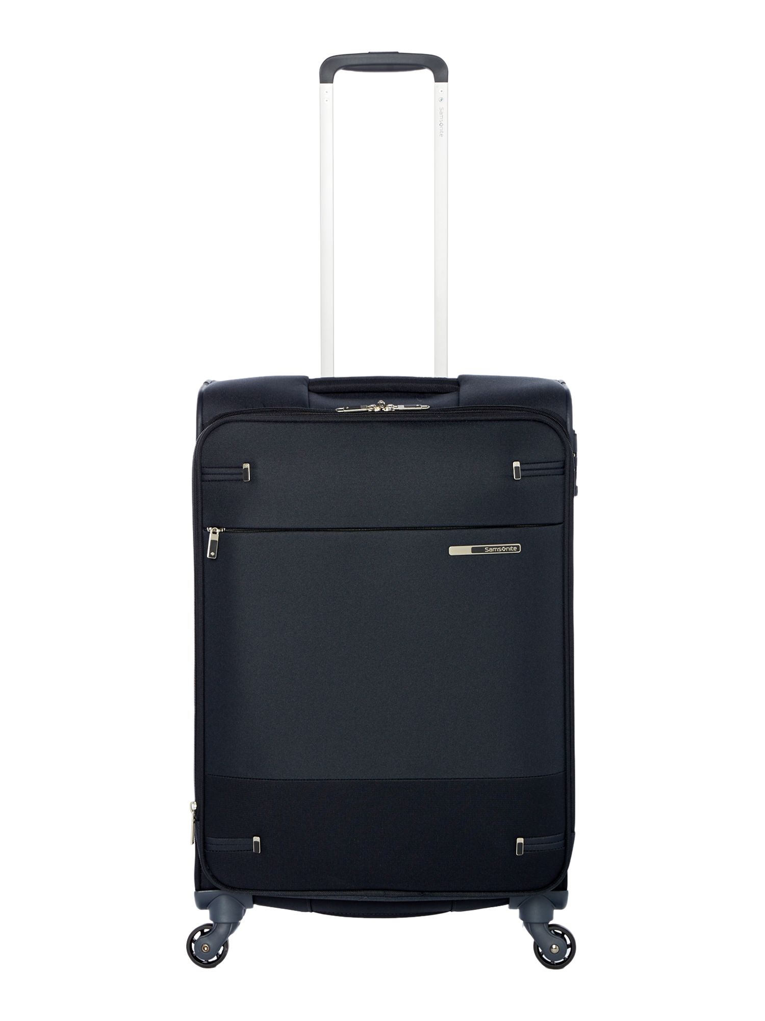 Samsonite Base boost black 4 wheel 66cm medium suitcase, Black