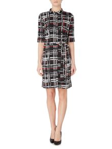 Linea Check printed shirt dress