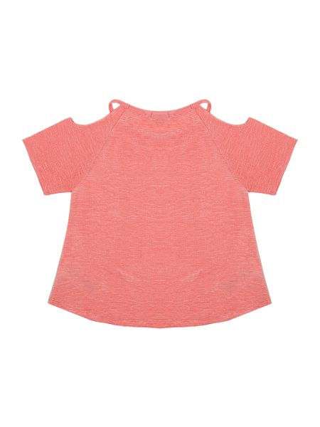 Blush Girls Cold Shoulder Top