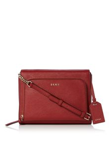 DKNY Saffiano Medium pocket crossbody bag