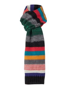 Paul Smith London Mohair Multi Stripe Scarf