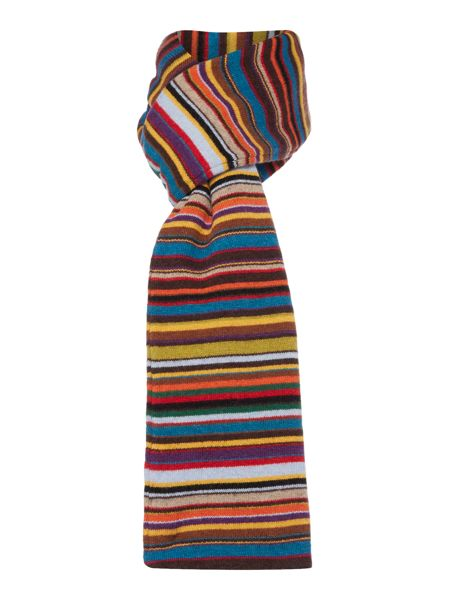 Paul Smith London Mens multi knit scarf