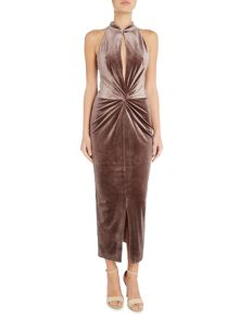 Lavish Alice Twist front midi dress