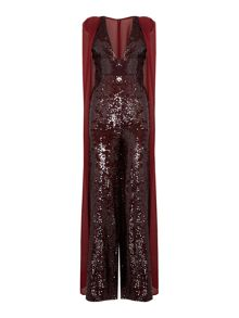 Lavish Alice Sleeveless sequin jumpsuit