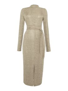 Lavish Alice Sleeveless metalic knitted dress