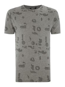 Only & Sons Printed Fitted Short-Sleeve T-shirt