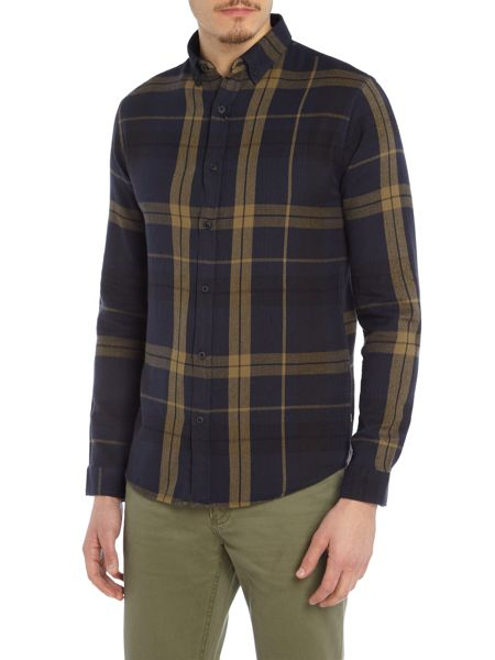 Only & Sons Large-Check Long-Sleeve Shirt
