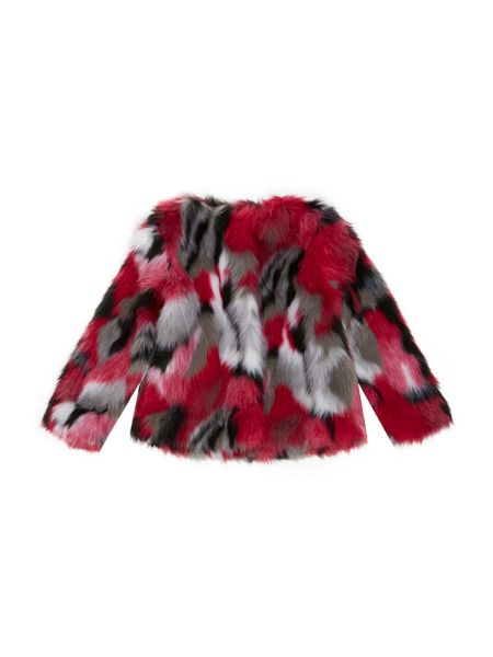 Blush Girls Multi-Coloured Fur Coat
