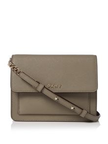 DKNY Saffiano chain mini flap crossbody bag