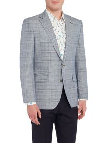 Turner & Sanderson Cranborn Checked Linen Formal Blazer