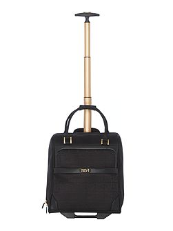 Opulence black wheeled travel bag