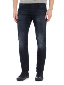 G-Star 3301 Siro Black Slim Fit Dark Wash Stretch Jeans