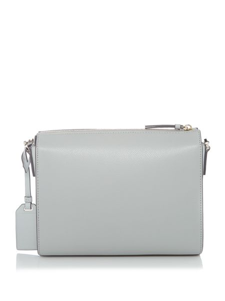 DKNY Patent medium pocket crossbody bag
