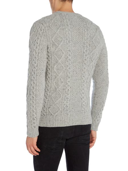 Levi's Fisherman cable knitted crew neck jumper