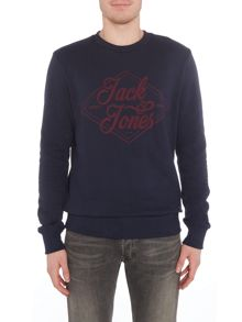 Jack & Jones Logo Crew-Neck Sweatshirt
