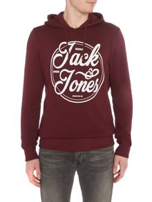Jack & Jones Logo-Print Cotton-Jersey Hoody