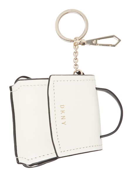 DKNY Mini flap bag charm