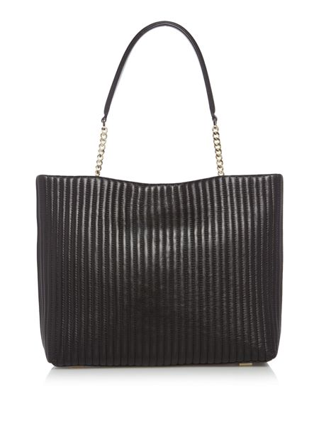DKNY Pinstripe quilt chain tote bag