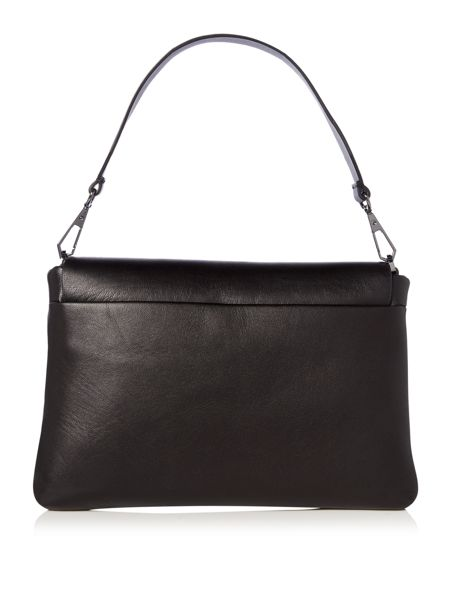 DKNY Debossed logo flapover logo shoulder bag