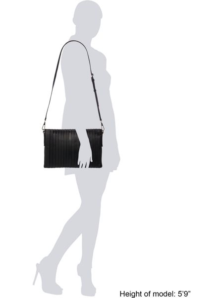 DKNY Stripe pleat crossbody bag