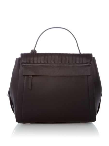 DKNY Stripe pleat shoulder bag
