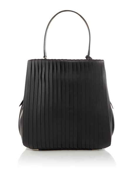 DKNY Stripe pleat bucket bag