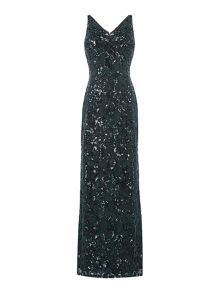 Jessica Wright Sleeveless Full Sequin Maxi Dress