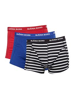 3 Pack Stripe and Plain Trunk