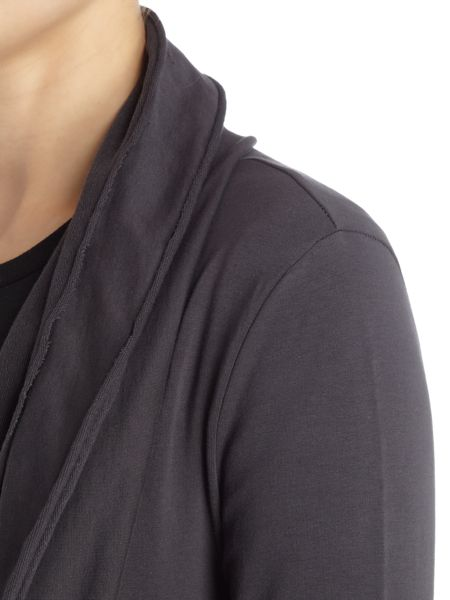 Label Lab Jersey charcoal throw on cardigan