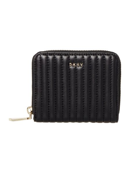 DKNY Pinstripe quilt small ziparound purse