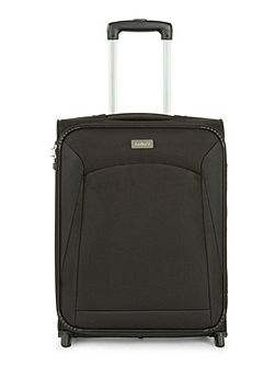 Lipari black 2 wheel soft cabin suitcase