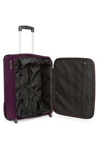 Antler Lipari purple 2 wheel soft cabin suitcase