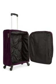 Antler Lipari purple 4 wheel soft medium suitcase