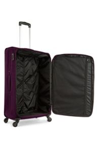 Antler Lipari purple 4 wheel soft large suitcase