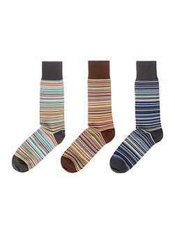 3 Pack Multistripe Socks