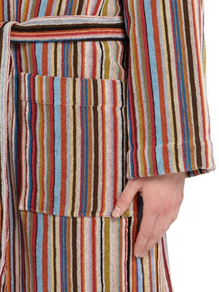 Paul Smith London Multistripe Towelling Robe