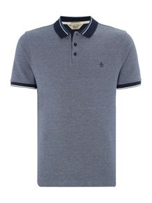 Original Penguin Contrast-Trims Short Sleeve Polo Shirt