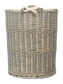 Junipa Grey wicker laundry bin