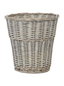 Junipa Grey wicker waste bin