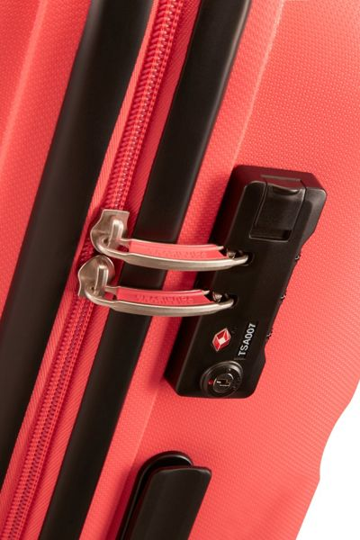 American Tourister Bon Air bright coral 4 wheel hard cabin suitcase