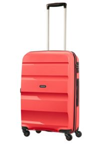 American Tourister Bon Air bright coral 4 wheel hard medium suitcase