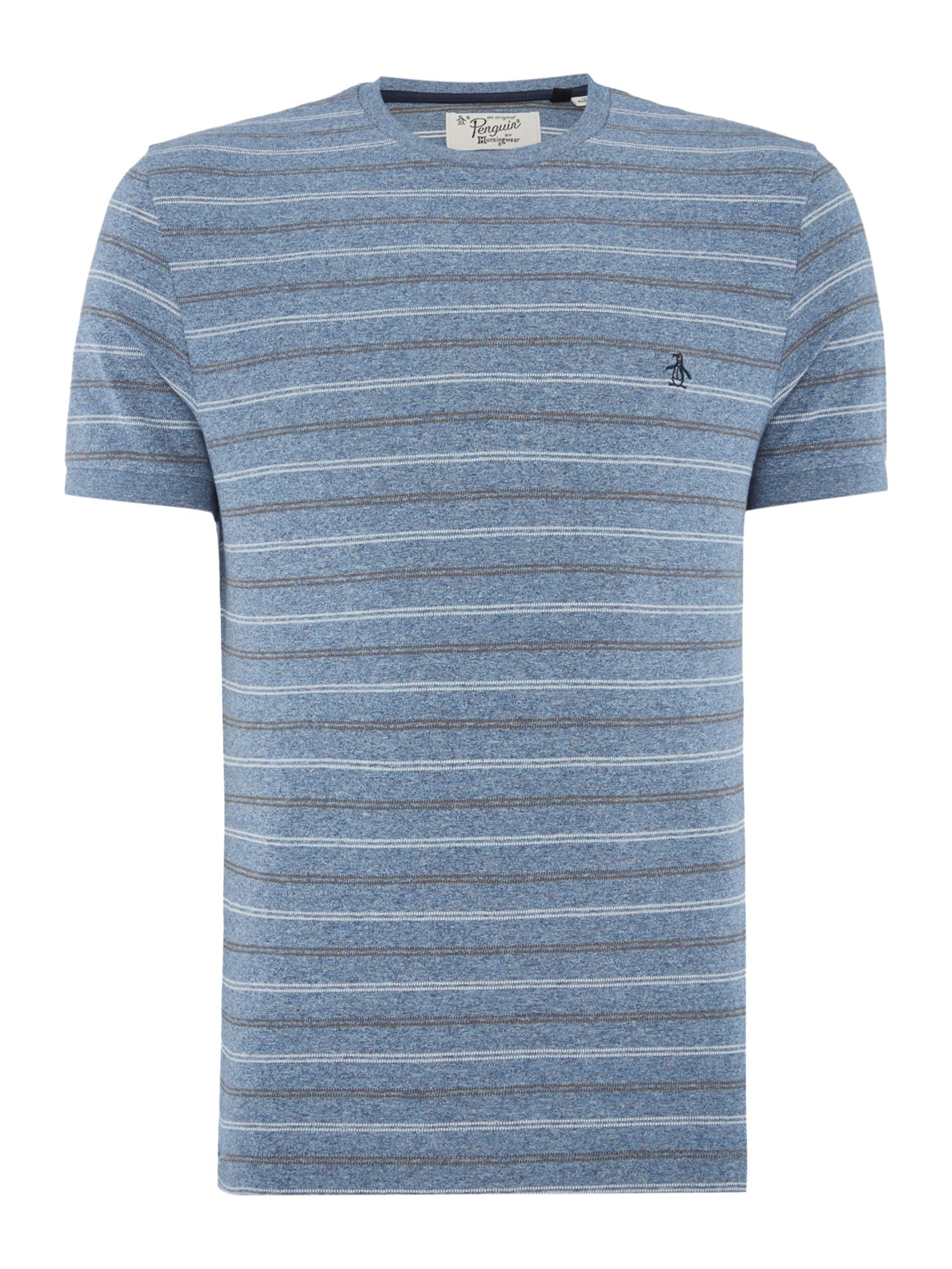 Men's Original Penguin Marble-Stripe Short-Sleeve T-shirt, Blue Marl