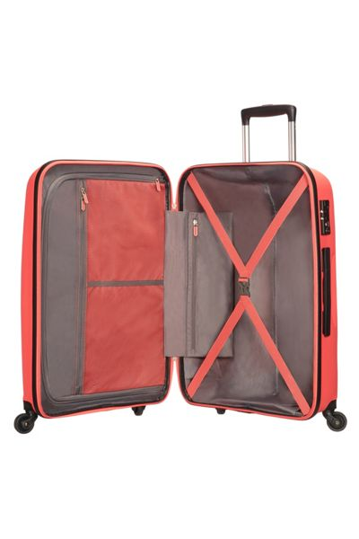 American Tourister Bon Air bright coral 4 wheel hard large suitcase